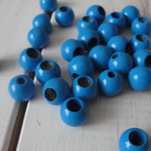 безопасные бусины голубые
