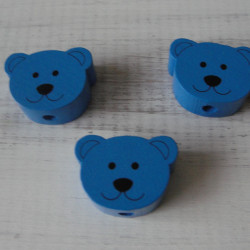 мишки плоские голубые