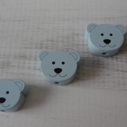 мишки плоские небесно-голубые