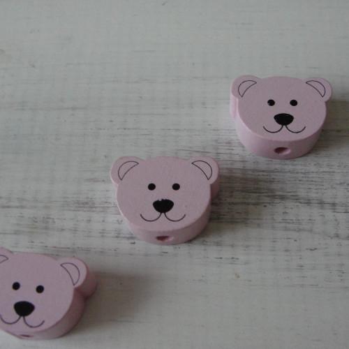 мишки плоские нежно-розовые